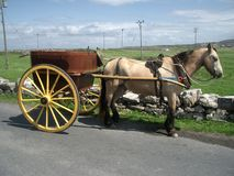 Carriage on Aran Islands. Horse drawn carriage on Aran Islands off the West Coast of Ireland Stock Photography