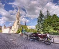 Carriage in Budapest. Horse driven carriage at Budapest, Hungary Stock Image