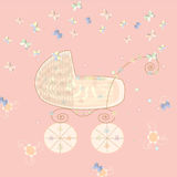 Carriage and butterflies Royalty Free Stock Photo
