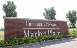 Carriage Crossing Market Place, Collierville, Tennessee. Carriage Crossing Market Place in Collierville, Tennessee where people can purchase goods and Royalty Free Stock Photos