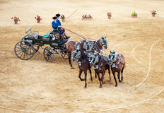 Carriage drawn by five horses Royalty Free Stock Photography