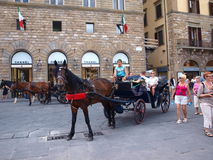 Carriage, Florence, Italy Stock Photography