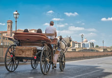 Carriage in Florence Stock Photo
