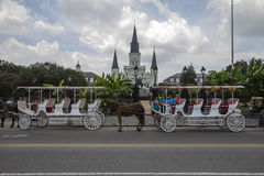 Carriage in front of the castle, New Orleans Royalty Free Stock Photography