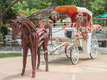 Carriage. A Carriage in the garden with horse Royalty Free Stock Images