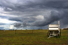 The carriage on the grassland Royalty Free Stock Image