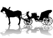 Carriage and horses Royalty Free Stock Image