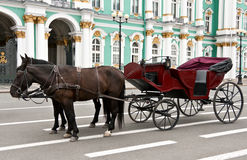 Carriage with horses Stock Image