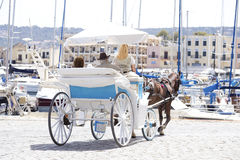 Carriage with horses Royalty Free Stock Photos