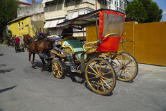 Carriage with Horses and Driver Stock Images