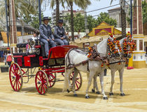 Carriage of horses Stock Images