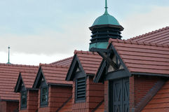 Carriage House and Dormers Closeup Stock Image