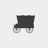 Carriage icon in a flat design in black color. Vector illustration eps10 Royalty Free Stock Image