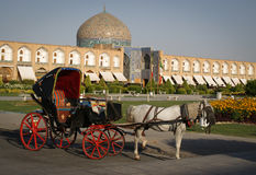 Carriage on Imam Square, Isfahan Royalty Free Stock Photo