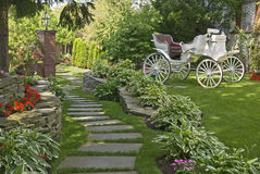 Free Carriage In The Garden Royalty Free Stock Photo - 14874105
