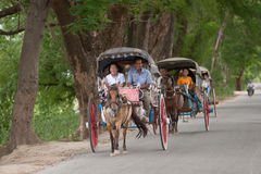 Carriage in Inwa ancient city in Myanmar. Stock Photography