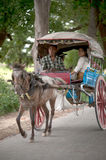Carriage in Inwa ancient city in Myanmar. Royalty Free Stock Photography
