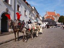 Carriage, Kazimierz Dolny, Poland Stock Images