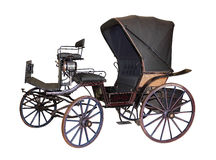 Carriage by late 19th century on white Royalty Free Stock Photo
