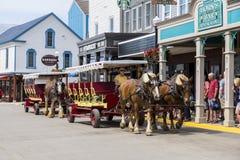 Carriage Mackinac island. Horse drawn carriage at Mackinac Island USA Royalty Free Stock Images