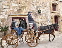 Carriage in Mdina the Silent City of Malta Royalty Free Stock Photos
