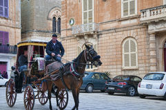 Carriage in Mdina the Silent City of Malta Stock Photo