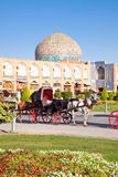 Carriage on Naqsh-i Jahan Square, Isfahan, Iran Royalty Free Stock Photos