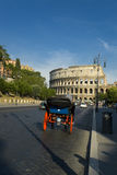 A Carriage near Colosseum in Rome Stock Photography
