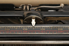 Carriage on an old typewriter Royalty Free Stock Photo