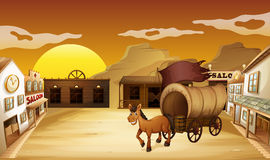 A carriage outside the saloon bar Stock Image