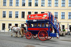 Carriage and pair journey in Dresden stock image