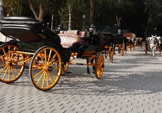 Carriage Parking Royalty Free Stock Photography