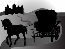 Carriage for princess Royalty Free Stock Images