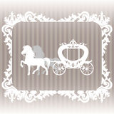 Carriage pulled by two horses. Stock Photo