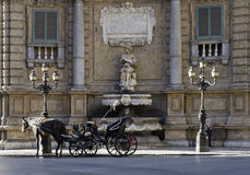 Carriage in Quattro Canti Royalty Free Stock Images