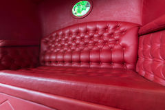 Carriage with red leather sofa Royalty Free Stock Images