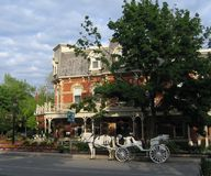 Carriage Ride. Outside hotel in Niagara on the Lake, Canada stock photography