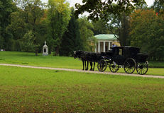 Carriage ride in summer park Stock Image