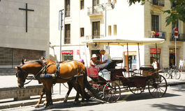 Carriage ride for tourists Stock Photo