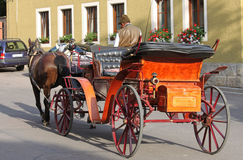 Carriage rides in Europe Stock Photo