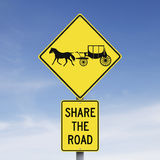 Carriage Road Ahead. Road signs announcing a carriage road Royalty Free Stock Images