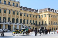 Carriage at schoenbrunn stock photo