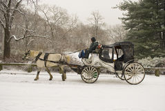 Carriage in the snow Royalty Free Stock Photography