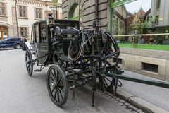 Carriage on the street. Royalty Free Stock Images