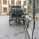 Carriage on the street. Royalty Free Stock Photography