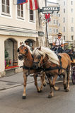 Carriage in the streets of Salzburg Royalty Free Stock Images