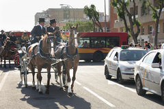 Carriage on the streets of Seville Stock Photo