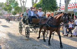 Carriage on the streets of Seville Stock Photos
