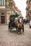 Carriage in the streets of Warsaw, Poland Royalty Free Stock Photo