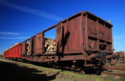 Carriage for timber Royalty Free Stock Image